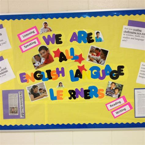 themes about english language esl bulletin board in middle school bulletin boards