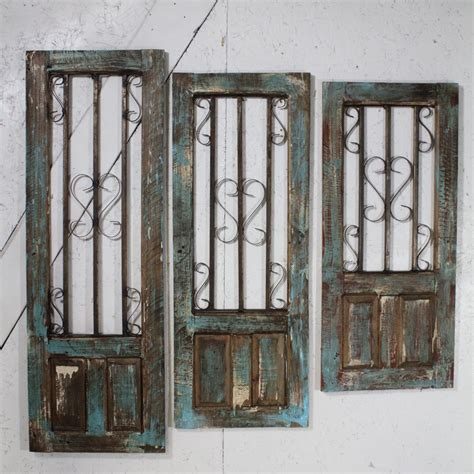 decorative wall shutters 43 quot wood and iron blue shutter decorative wall decor