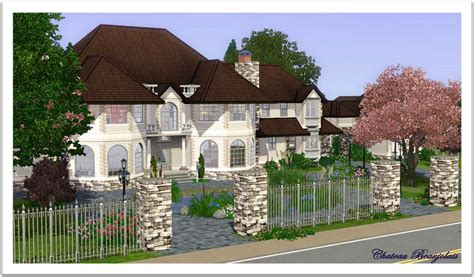 mod the sims chateau beaujolais french manor