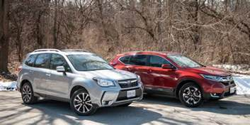Subaru Crv Suv Comparison 2017 Subaru Forester Xt Vs Honda Cr V