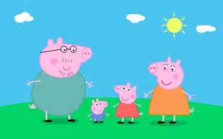 lovely english peppa pig characters