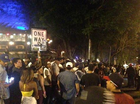genadm section house blues swarms of music fans close world famous sunset strip nbc