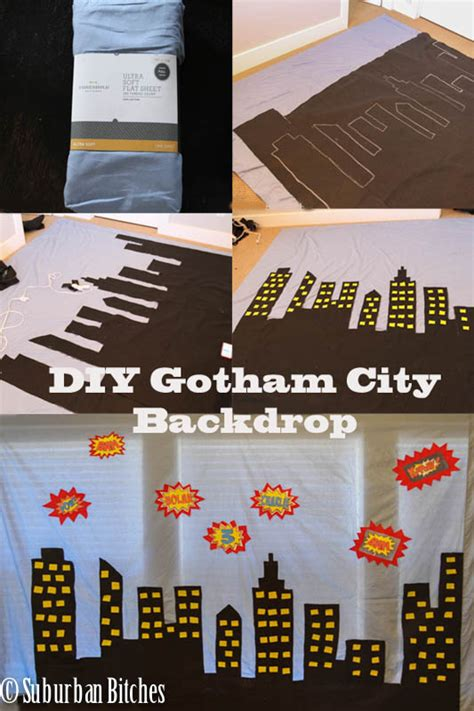 How To Make A City Out Of Paper - diy gotham city backdrop capes suburban bitches