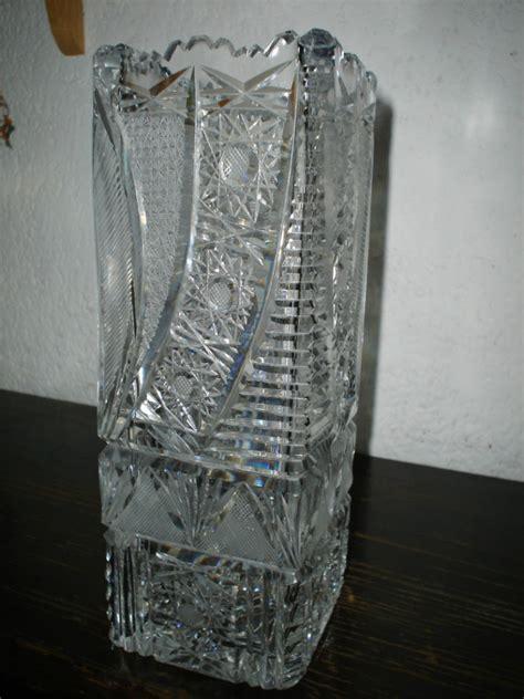 floreros de cristal de bohemia florero rectangular de cristal de bohemia 18 000 00 en