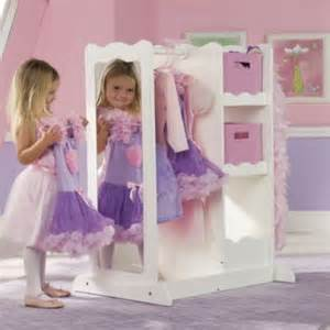 dress up center with storage crafts