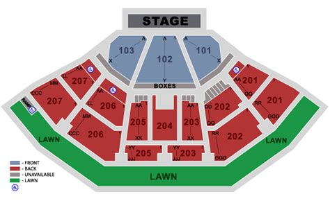 aaron s lakewood hitheatre seating chart aaron s hitheatre at lakewood atlanta ga platinum