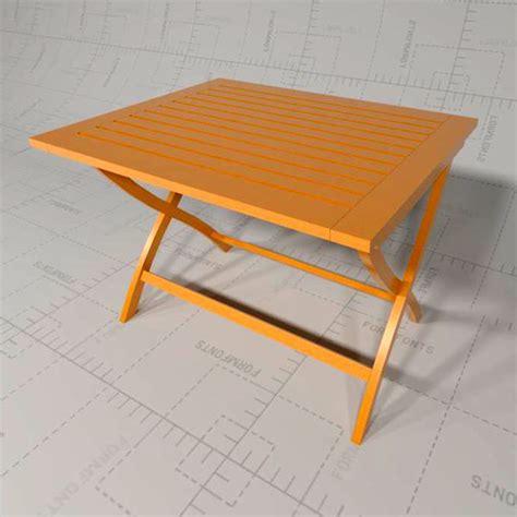 Patio Table Dwg Garden Tables 3d Model Formfonts 3d Models Textures