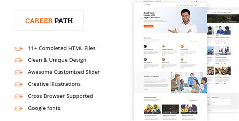 Career Path Career Guideline Educational Html5 Template By Design Cafe Career Page Template