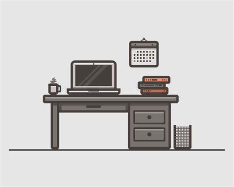 how to design a desk how to create a desk scenery illustration using adobe illustrator