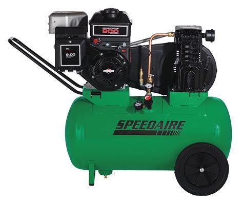 speedaire 20 gal 5 5 hp barrel portable gas air compressor 4b220 4b220 grainger