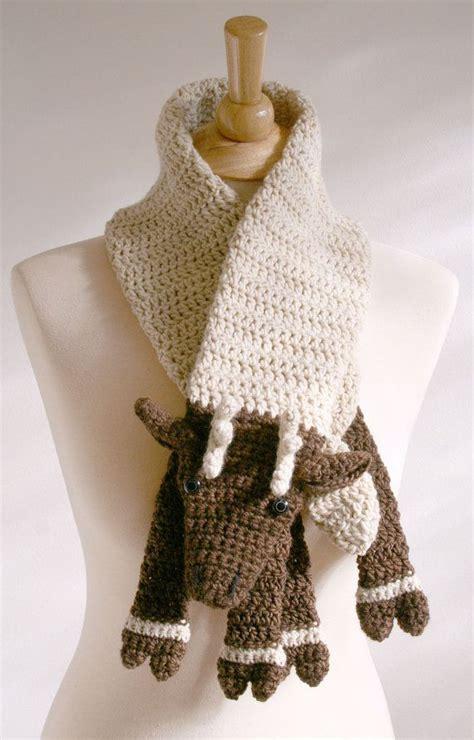 Handmade Scarf Patterns - reindeer scarf handmade dyed merino wool ooak