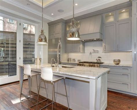 White Cabinet Grey Countertop by Grey Cabinets White Countertops Houzz