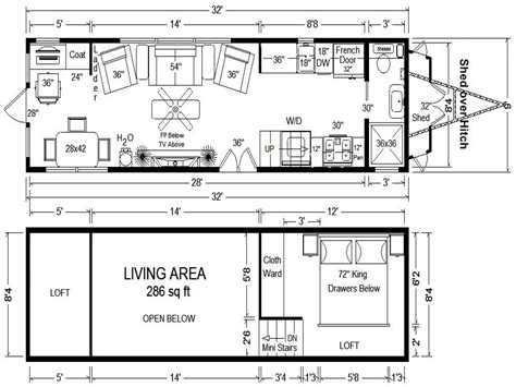 tiny home house plans tiny houses on wheels floor plans tumbleweed tiny house