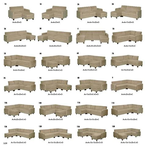 Sectional Configurations Sectionals Sofas Couches