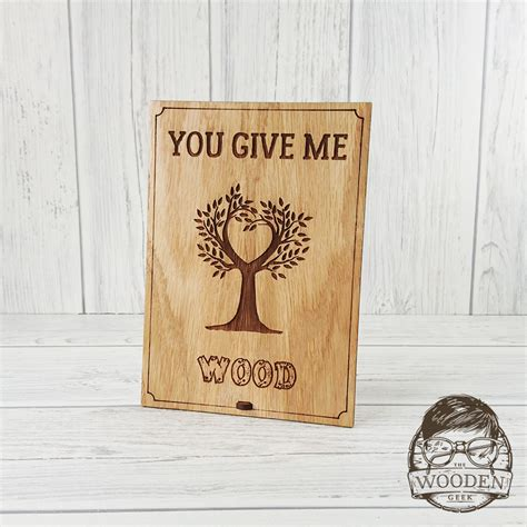 you give me wood valentines card the wooden