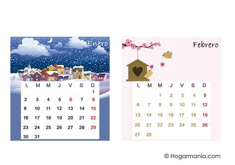 Calendario De Febrero De 2017 Calendario De Mesa 2017 Para Descargar Enero Y Febrero