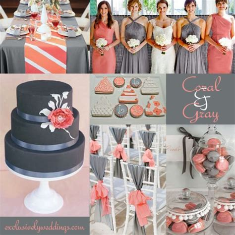 coral and grey wedding centerpieces navy and coral wedding centerpieces hairstylegalleries
