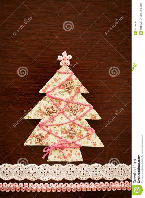 Tree Of Handmade - handmade fabric tree royalty free stock image