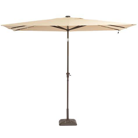 10 Ft Patio Umbrella Hton Bay 10 Ft X 6 Ft Aluminum Solar Patio Umbrella In Cafe Yjauc 171 Rc2 The Home Depot