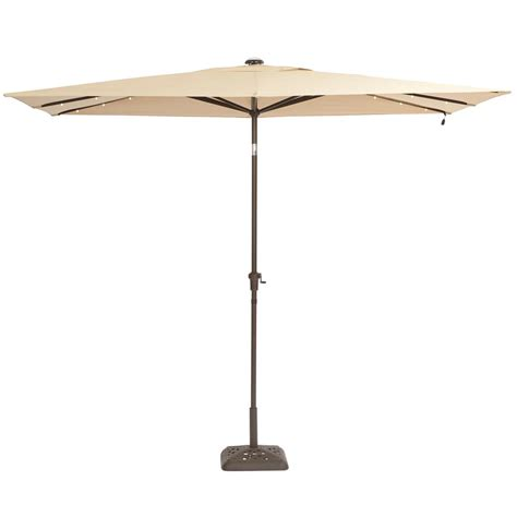 Rectangular Patio Umbrella With Solar Lights   Home