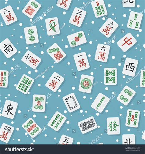 seamless texture mahjong majiang tiles bamboos stock seamless texture flat stylish mahjong majiang stock vector