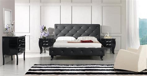 Modern Leatherette 5 Piece Bedroom Set Monte Carlo White | modern leatherette 5 piece bedroom set monte carlo black