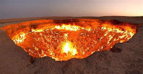 turkmenistan pit the door to hell a hellish desert pit has been on