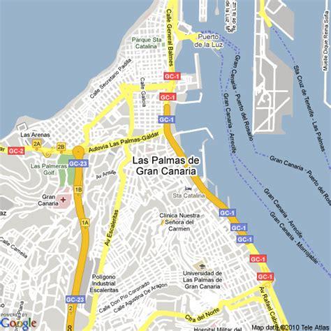 map  las palmas spain hotels accommodation