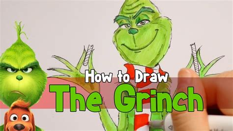 how to draw grinch youtube how to draw illuminations the grinch youtube