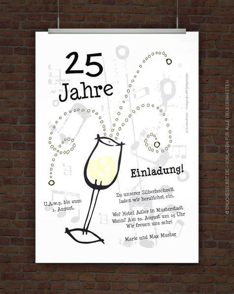 Einladungskarten Gestalten Silberhochzeit by Drucke Selbst Einladungskarte Zur Silberhochzeit