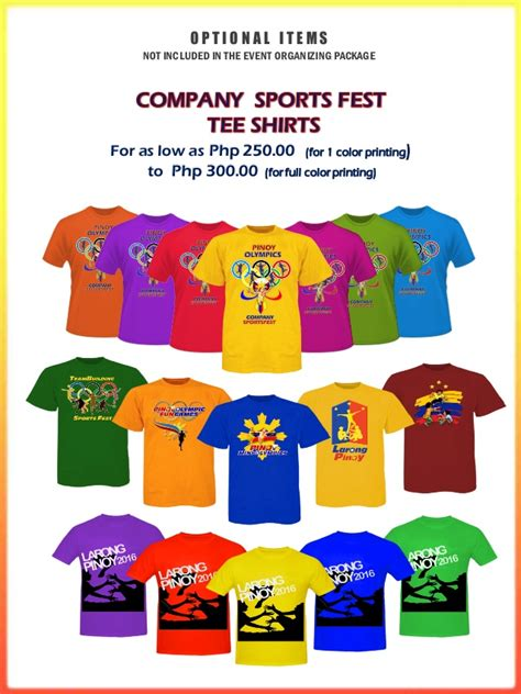 design baju team building larong pinoy corporate team building sports fest