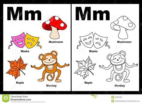 objetos con la letra m imagui hoja de trabajo de la letra m ilustraci 243 n del vector
