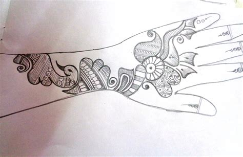 Mehndi Designs Outlines by Images Of Basic Outline Pencil Sketch Of Mehndi Design Images Of Basic Outline Pencil Sketch Of