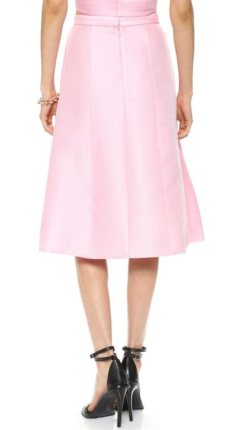 Clover Clothing Skirt Set Flozana 1 lyst tibi simona jacquard skirt clover pink in pink