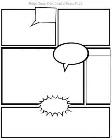 Graphic Novel Outline Template by Pin Blank Comic Book Printable Form On