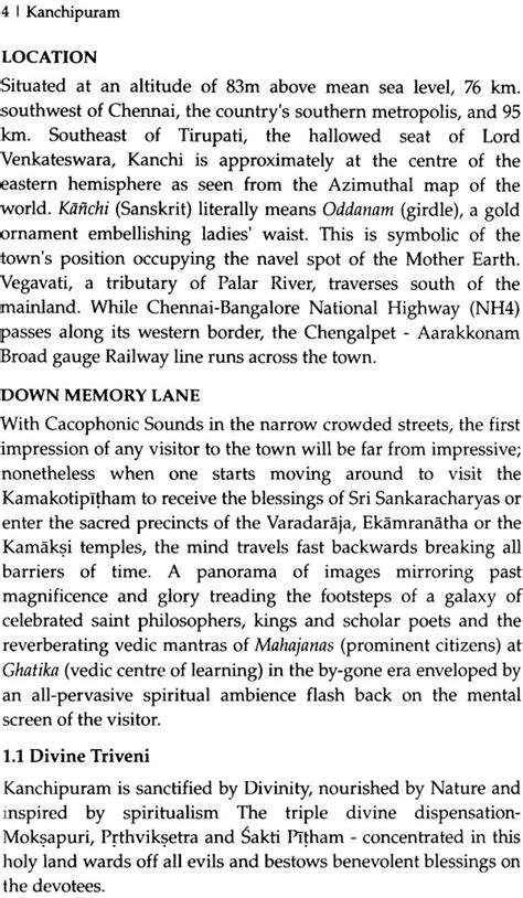 Kanchipuram Land of Legends, Saints and Temples
