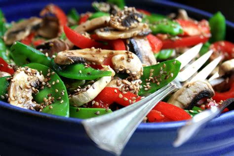 Snow Peas And Red Pepper Salad And My Family S Best Ever Best Buffet Salads