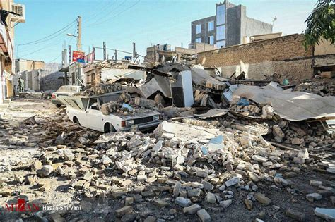 earthquake november 2017 like in a war zone new pictures of the m7 2 earthquake in