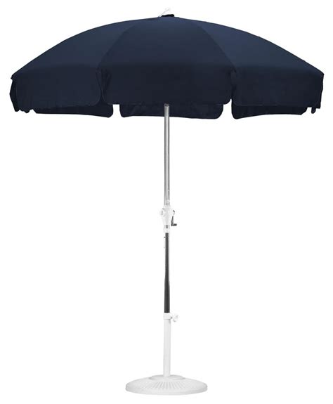 7 5 navy blue patio umbrella protects from sun