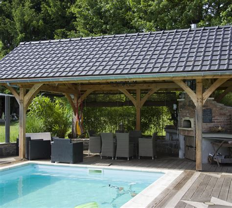 Pool House En by Pool House Avec Barbecue Majesty Wood