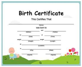 birth certificate template blank birth certificate to fill out www imgkid the