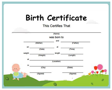 Hospital Birth Records Free Birth Certificate Sle Birth Certificate Template 02 15 Birth Certificate Templates
