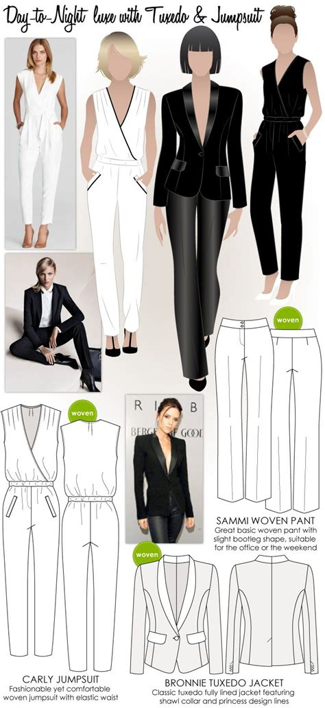 pinterest jumpsuit pattern day to night luxe with tuxedo jumpsuit sewing patterns