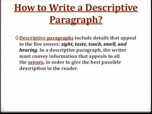 5 Paragraph Descriptive Essay by Descriptive Paragraph