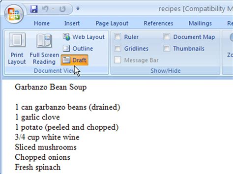 deleting section breaks how to delete a section break in word 2007 dummies