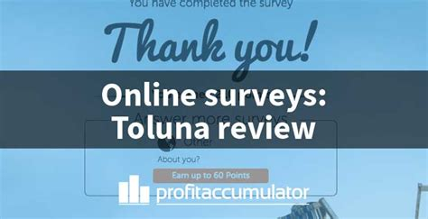 Making Money With Online Surveys - paid online surveys make money from home with toluna profit accumulator
