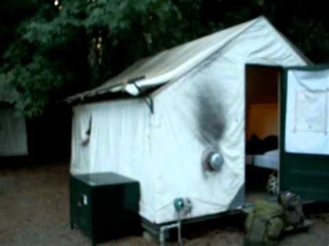 Permanent Tent Cabins by Yosemite National Park Our Tent At Camp Curry Youtube