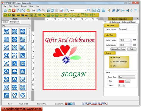 software maker logo maker software creates and prints corporate business logo