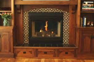 fireplace surround craftsman style in black walnut