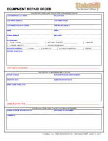 service repair order template best photos of equipment maintenance form template